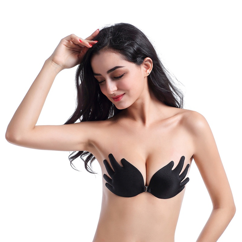 Self-Adhesive Solid Invisible Chest Stickers Women Breast Petals Push Up Seamless Bra(China)