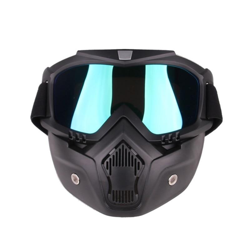 Más reciente a prueba de polvo casco de la motocicleta Máscara retro vintage máscara con filtro de boca para media cara casco de moto