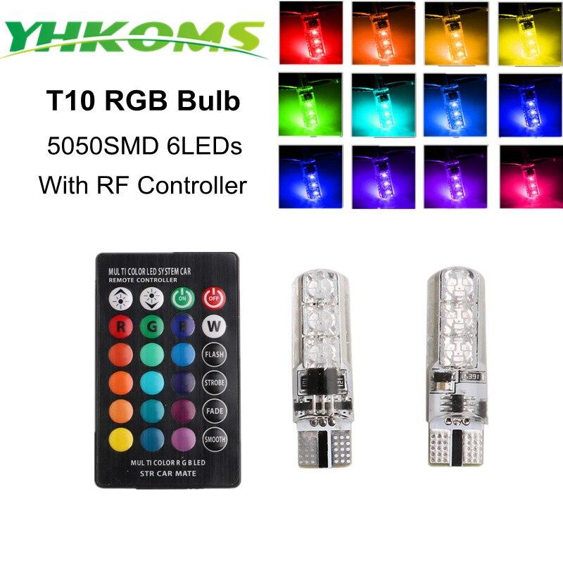 YHKOMS σούπερ φωτεινό T10 W5W LED RGB - Φώτα αυτοκινήτων - Φωτογραφία 1