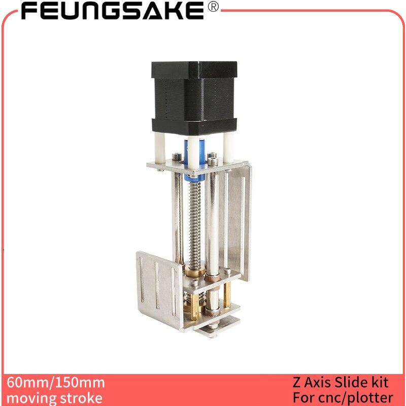 Z Achse Schiebe Arbeitstisch 60mm/150mm z kit für laser maschine 3 Achse z Slider DIY fräsen Linear Motion/CNC Gravur Maschine