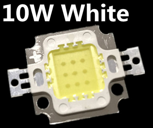 Free Shipping 100PCS 10W LED 10W  White 800-900LM LED Bulb IC SMD Lamp Light Daylight White High Power LED 6000-6500K