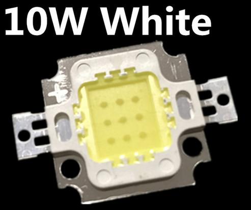 Free shipping 100PCS 10W LED 10W  white 800-900LM LED Bulb IC SMD Lamp Light Daylight white High Power LED 6000-6500K