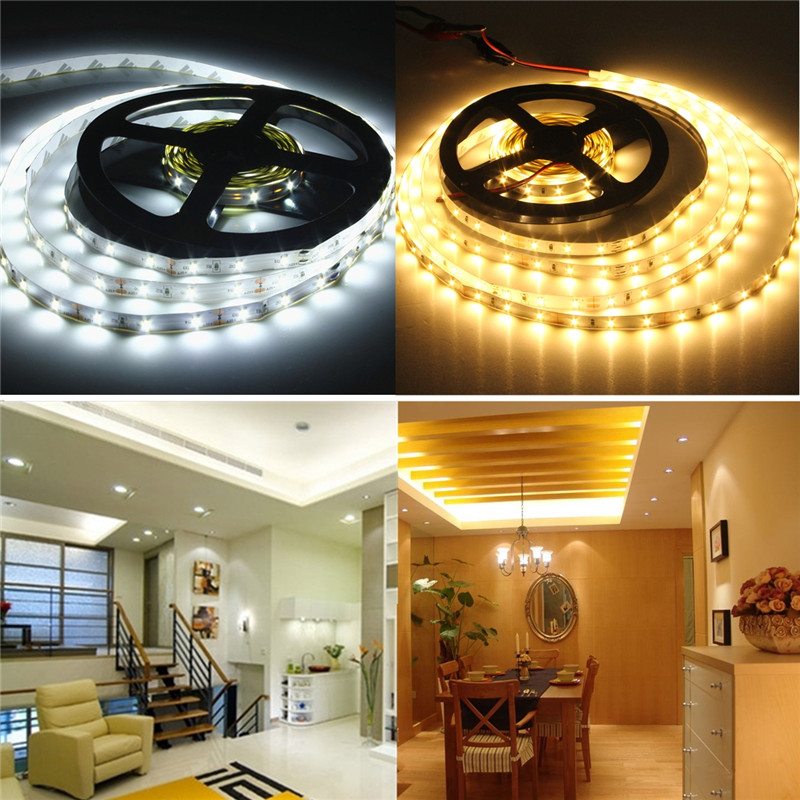 5M White Flexible Strip Light Lamp 300led 3014 SMD Pure White/warm white Single Color DC 12V Non-Waterproof DIY NEW