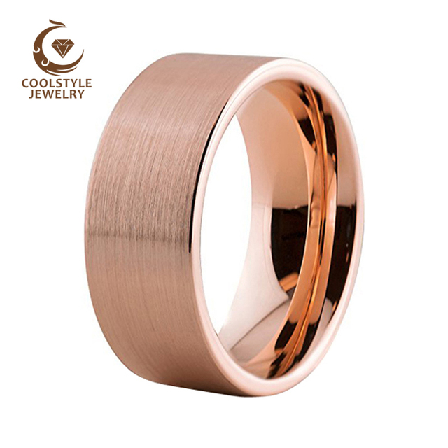 brushed unique grande fit band unisex cut rose gold comfort pipe new wedding dsc products rings