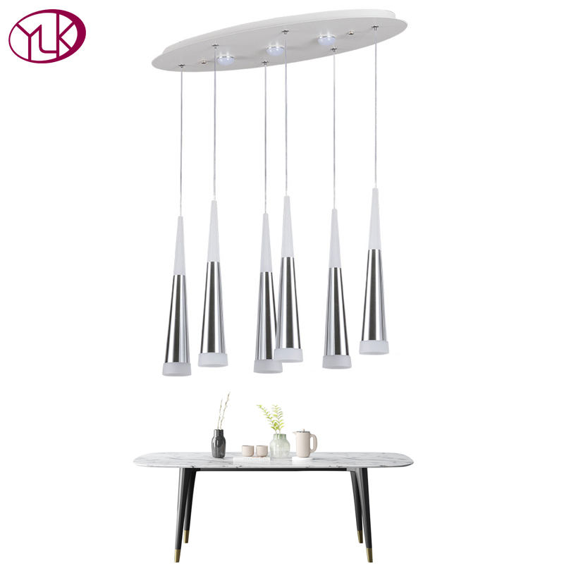 Youlaike New Modern LED Chandelier For Dining Room Acrylic Light Lighting Hanging Lights Fixtures Flush Mount Creative Home Lamp modern acrylic led chandelier lamp flush mount chandeliers light remote control home lighting fixture for living dining room