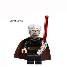 Single Sale Star Wars Count Dooku Darth Vader 2013 Chrom Handle Lightsaber Minifigures Building BlockBricks Baby Kids Toys Gifts