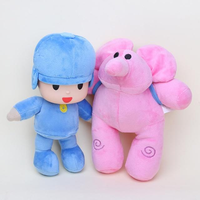 Cartoni animati pocoyo rosa elly elephant elefante farcito della