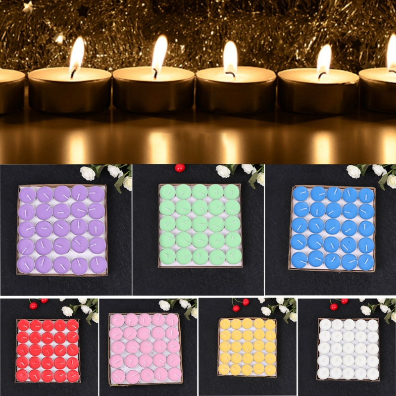 50Pcs/Set Round Shape Candles For Birthday Wedding Party Home Decor Candles Candele Love Gift 1