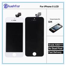 AAA de alta calidad Para el iphone 5 Pantalla LCD Con Pantalla Táctil Digitalizador Asamblea Reemplazo No Pixel Muerto Negro Blanco