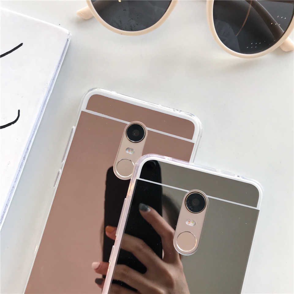 Miroir TPU coque en silicone Pour XiaoMi RedMi 5 Plus 4A 5A 6A 4X Note 3 4 6 Pro 7 S2 Km 5X A1 6X A2 Lite F1 Couverture Souple coques de téléphone