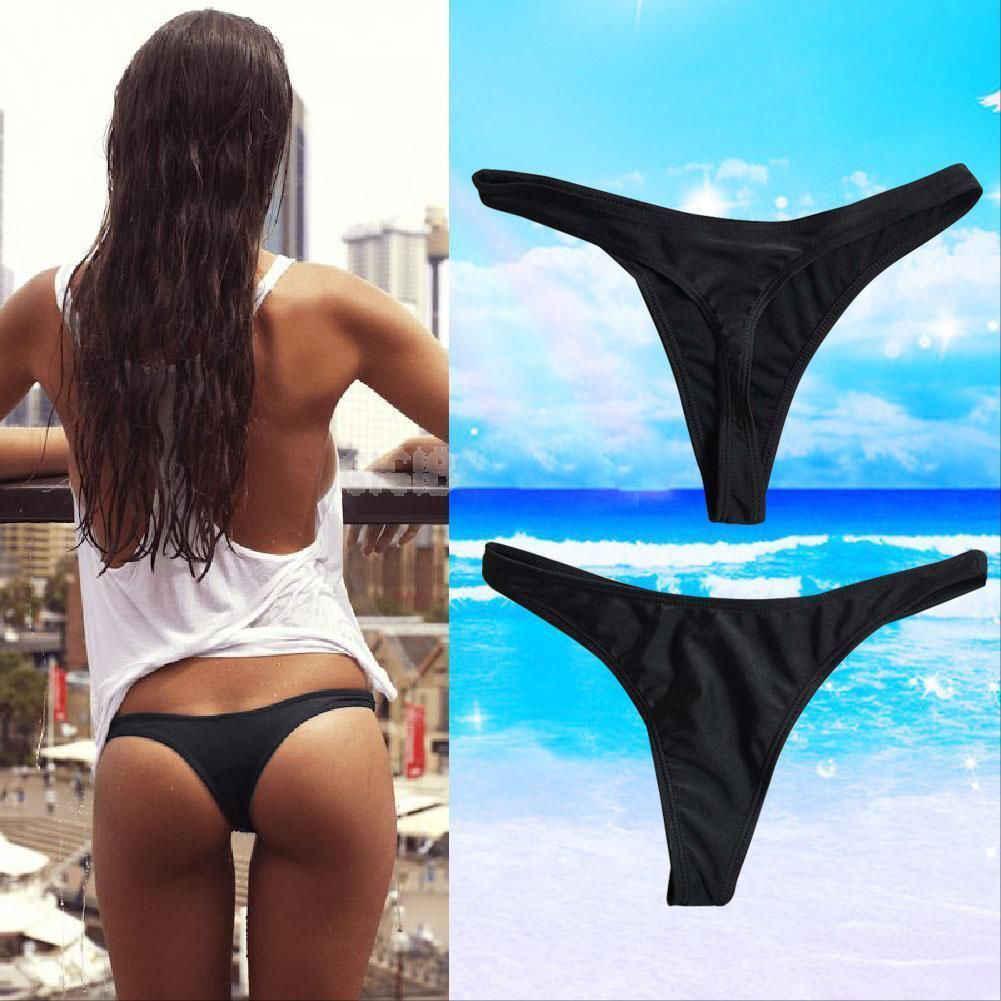 Горячая Распродажа, сексуальное женское бикини, плавки, купальник, пляжный купальник, Т-образные стринги, Одноцветный купальник, плавки
