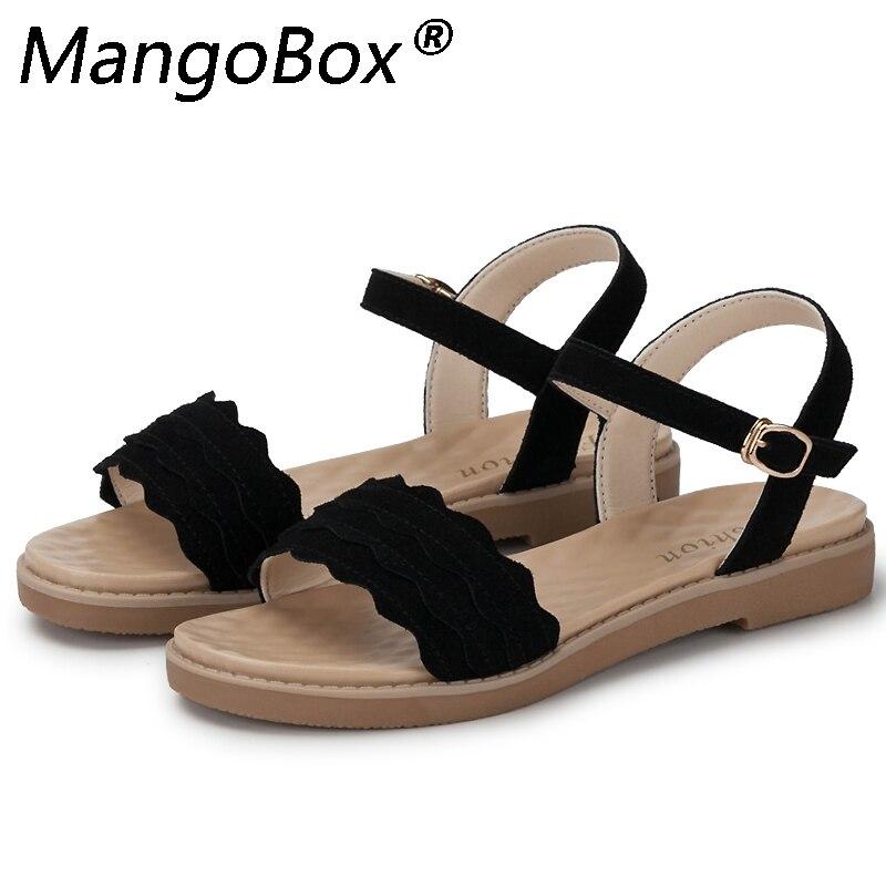 2018 Vente Chaude De Mode Sandales Femmes D'été Glissement sur des Chaussures Peep-toe Chaussures Plates Sandales Mujer Sandalias Dames Flip flops Sandale