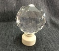 "2Pcs/Lot Drapery Curtain 28mm (1.1"")  Rod Aluminum Decorative End Cap Finial Polyhedral Ball Design"