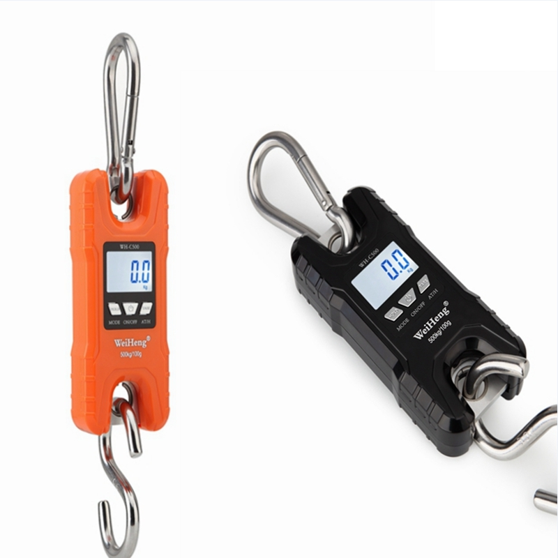 WeiHeng 500kg/100g Mini Crane Scale Portable Digital Stainless Steel Hook Hanging Livestock Scales LCD Heavy Duty Weight BalanceWeiHeng 500kg/100g Mini Crane Scale Portable Digital Stainless Steel Hook Hanging Livestock Scales LCD Heavy Duty Weight Balance