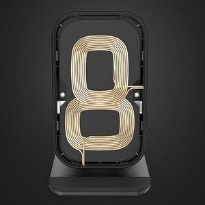 Image 3 - Suporte de metal sem fio qi, suporte de carregamento rápido, para iphone x, xs, max, samsung s8, s10, 9, adaptador sem fio carregadores de qucik