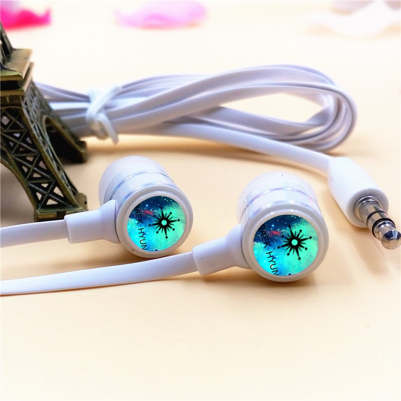 EXO-K EXO BAEK HYUN In-ear Earphone 3.5mm Wired Stereo Earbuds Microphone Phone Music Headset for Iphone Samsung Xiaomi VIVO MP3