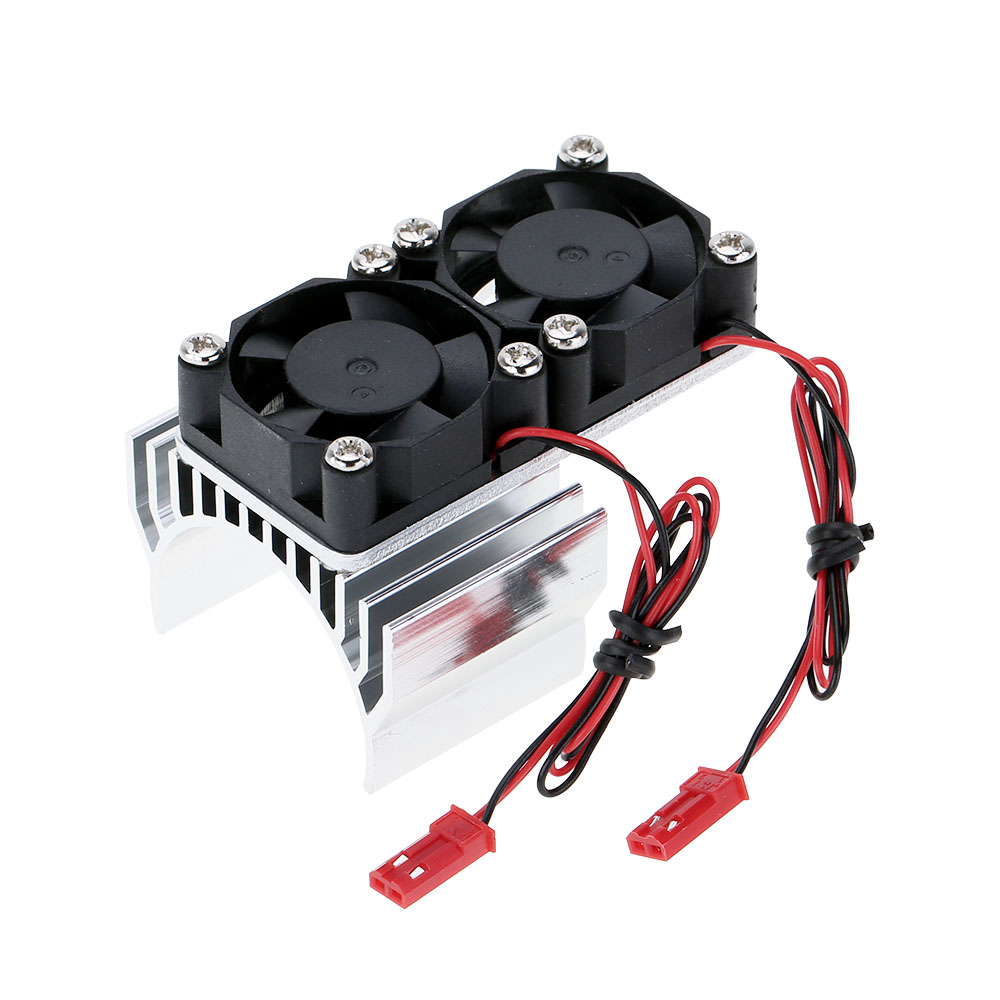 7019 Motor Heat Sink With Two Cooling Fans for 1/10 HSP RC Car 540/550 3650 Motor