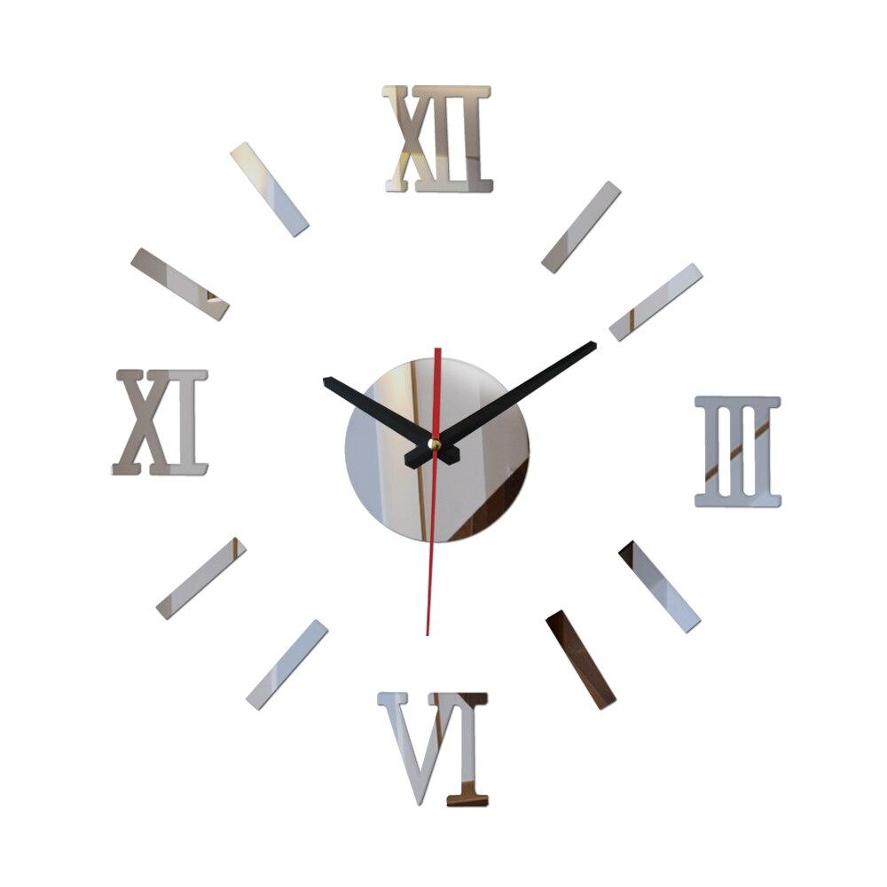 նոր ժամանում DIY Ակրիլային հայելի պատի ժամացույցի պիտակներ եվրոպական դեկոր Հյուրասենյակի նվեր տան կահույք հռոմեական պիտակ