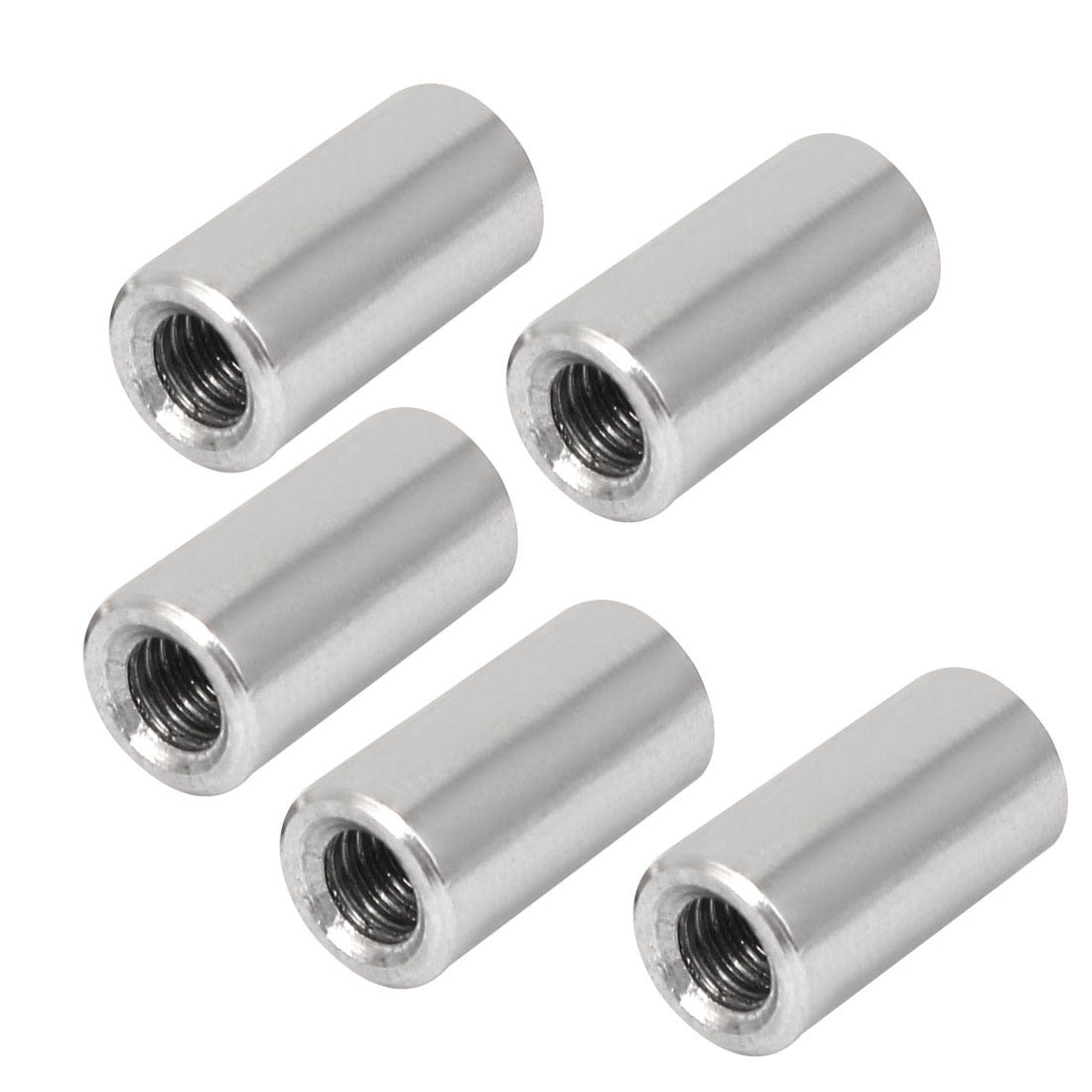 10Pcs M6 Rose Joint Adapter Threaded Round Connector Nuts 304 stainless steel Threaded Sleeve Rod bar Stud Round Connector Nuts