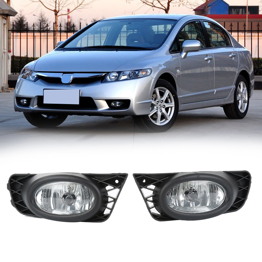 hight resolution of 1 pair left right front fog light replacement with wiring harness kit fits for 2009 2011 honda civic fa1 fa4 fa5 car styling in car light accessories from