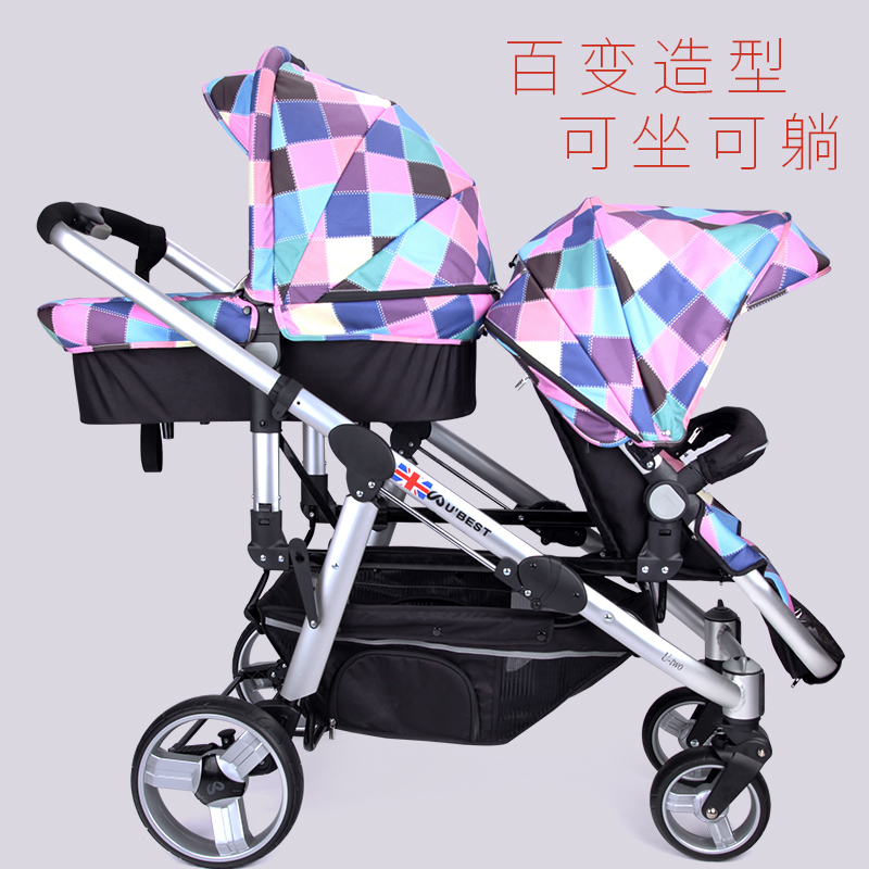 Twin Baby Cart High Landscape Carts Can Sit Down And Sit Back And Down