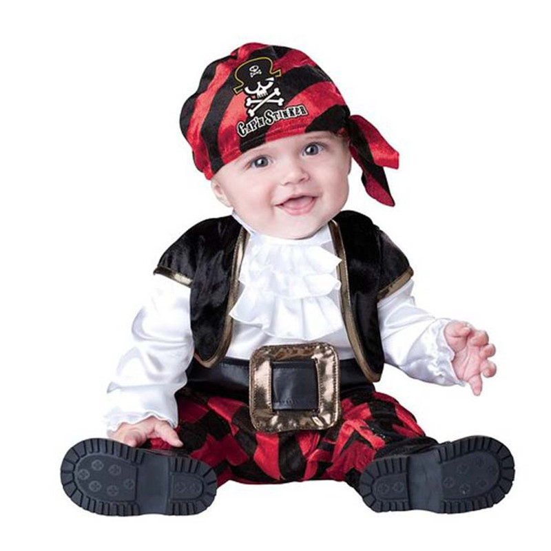 High Quality Baby Halloween Autumn Christmas Romper Animals Clothes Kids Cosplay Costume Children Pirate Clothing