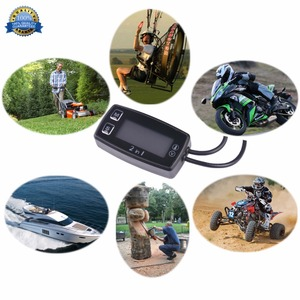 Image 4 - Motosiklet metre LED dijital termometre voltmetre sıcaklık ölçer arazi motosikleti ATV dıştan takma planör çim biçme makinesi tekne deniz