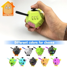 Minitudou Fidget Cube 2 Upgraded Version Fidget Toys Plastic Anti Stress Hand Toy Relieves Anxiety Gift For Children Adults