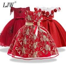 2974e2193cfa5 12yrs Nouveau bébé Grand arc tutu princesse robe pour fille fleur élégante  de fête d'anniversaire fille robe Bébé fille de noël .