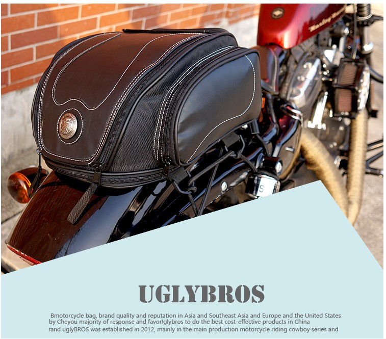 2016 Hot Sale Time-limited Bag Motorcycle Uglybros Ubb-223 Package / Motorcycle Rear Bag Retro Seat Tail Pack Riding motorcycle waterproof black tank bags multifunction hard shell bag motorcycle riding luggage backpack shoulder seat tail pack