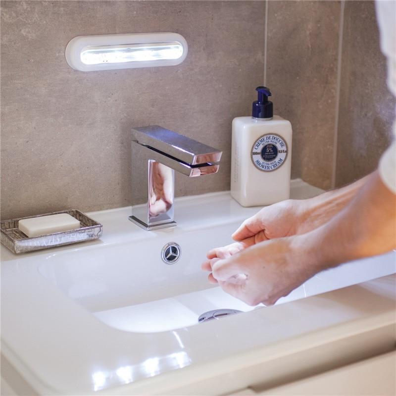 Batareya ilə işləyən LED Tuş Sensor Gecə İşıq lampası - Gecə işığı - Fotoqrafiya 4