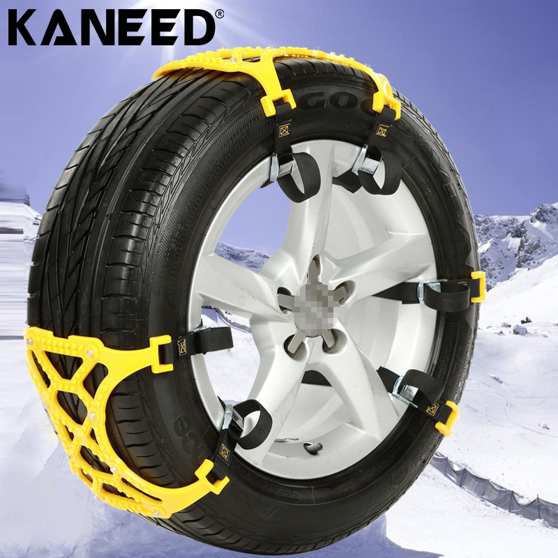 где купить  KANEED Plastic Snow Chains Car Snow Tire Anti Skid Chains Automobile thick tendon anti-skid chain emergency snow off-road Chain  по лучшей цене