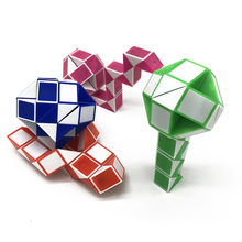 36 Sections Puzzle Cube Toys Kids Magic Ruler Folding Deformation Toy Snake Twist Educational Toy For Children Birthday Gifts(China)