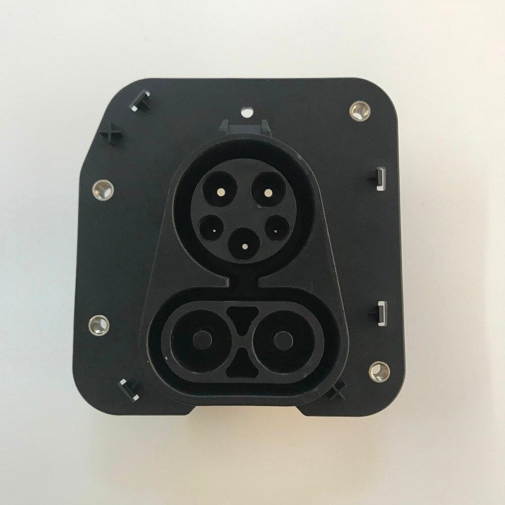 DUOSIDA véhicule entrée CCS type 1 combo 1 prise sans câble pour installation dans les véhicules électriques-in Prise électrique from Electronique    1