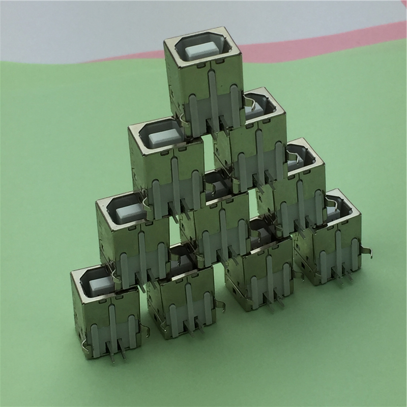 10pcs/lot USB B Type Female Socket Connector G45 for Printer Data Interface Free Shipping free shipping 10pcs ba6853fs