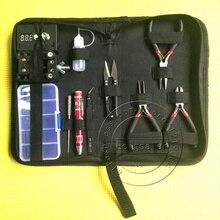 Bobinas e-xy diy herramienta 11 en 1 kit completo de bricolaje herramientas bobinadora de cerámica pinzas kit de accesorios Para RBA RDA plantilla bobina atomizador