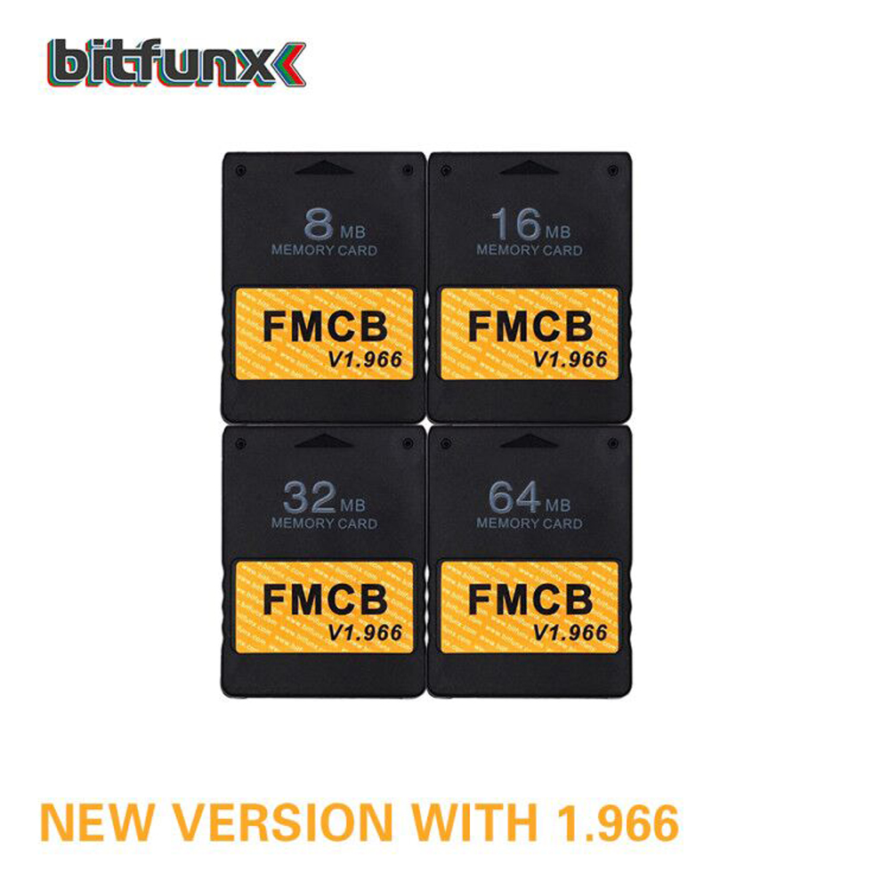 Bitfunx Free McBoot V1.966 8MB/16MB/32MB/64MB Memory Card For PS2 FMCB Version 1.966