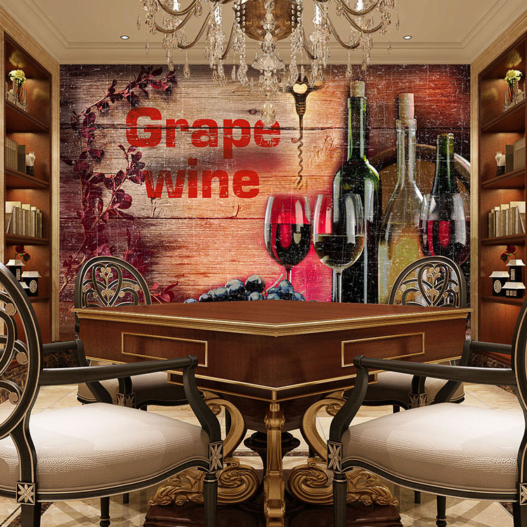 Free Shipping Vintage wood wine cup wallpaper winery restaurant large mural bar KTV wallpaper  free shipping european wine cellar wallpaper ktv bar restaurant industry lounge hall decoration beer cup wallpaper mural