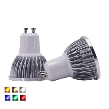 lighting GU10 LED Spotlight Dimmable Lamp 3W 4W 5W 110V 220V Red green blue Lampada Bulbs light Spot Candle Luz