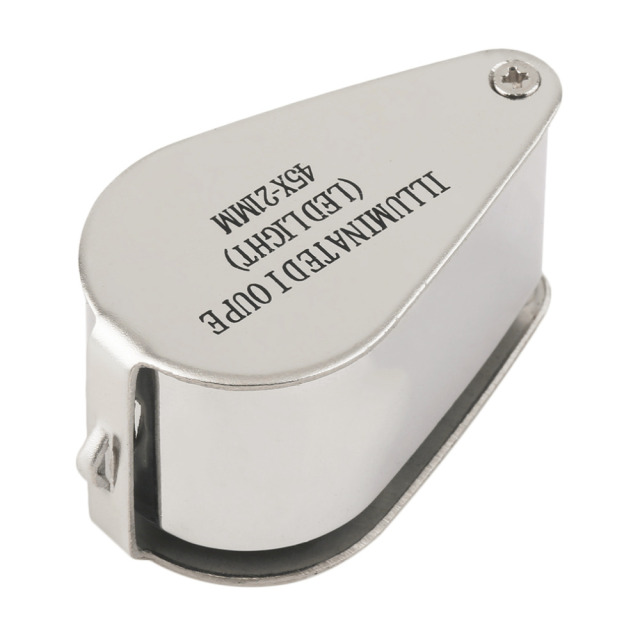 Magnifier Magnifying Glass Rotate With LED Light Worldwide Store 45x21mm Jewellers Eye Loupe