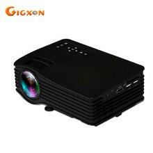 Gigxon-g036 nuevo proyector portátil led proyector 640*480 home cinema proyector uc36