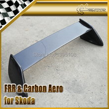 Car-styling For Skoda Octiva Style Real Carbon Fiber Rear Spoiler