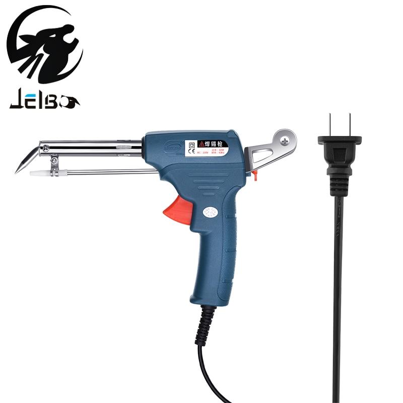 JelBo Manual soldering gun 220V 60W Automatic Send Tin Electrical Soldering Iron Gun Gun Hand Welding Tool Soldering Gun