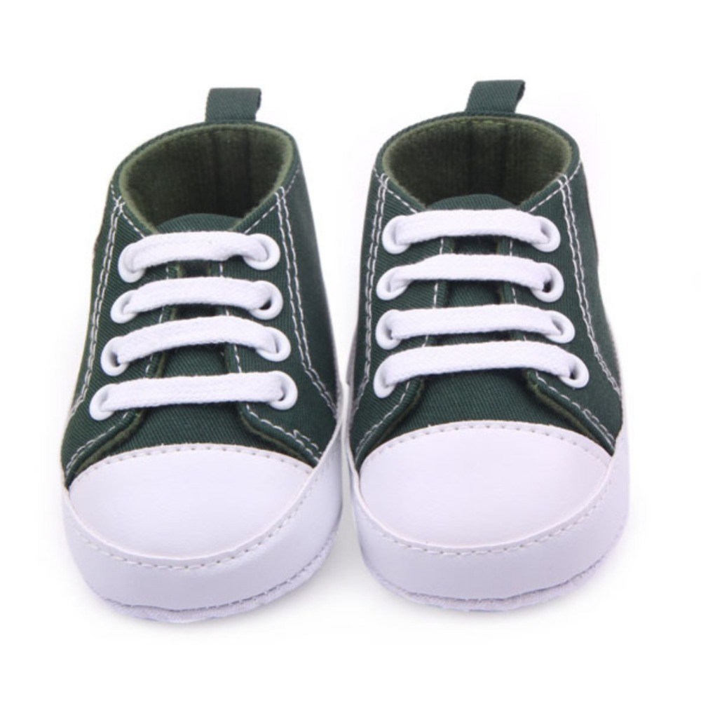 Baby Boys Girls Canvas Shoes Infant Soft Sole Crib Prewalker 0-12M 12 Colors New Baby Shoes