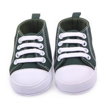 Фотография Baby Boys Girls Canvas Shoes Infant Soft Sole Crib Prewalker 0-12M 12 Colors New Baby Shoes