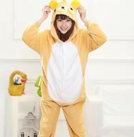 Piękne Tanie Łatwo Niedźwiedź Piżama Kigurumi Anime Cosplay Costume Piżama Adult Unisex Sukienka Piżamy Halloween