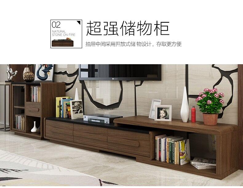 Minimaliste designer panneau en bois meuble TV moderne salon meubles de maison tv moniteur LED meuble tv mueble meuble tv mesa table TV