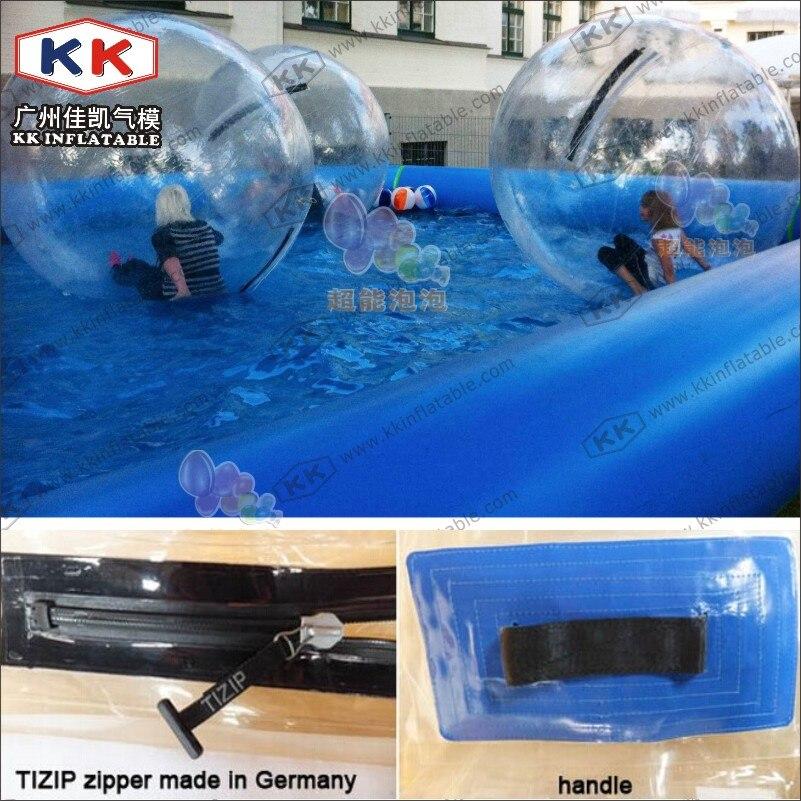 Grand prix gonflable de boule de marche de l'eau de piscine d'enfants en plastique, utilisation de location de boule d'eau de danse de Ballet