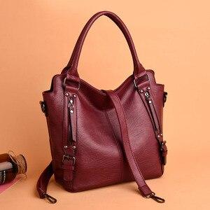 Image 5 - Kadın çanta deri lüks kadın çantası tasarımcı büyük kapasiteli alışveriş omuz çantaları kese bayanlar Tote kadınlar için Crossbody çanta