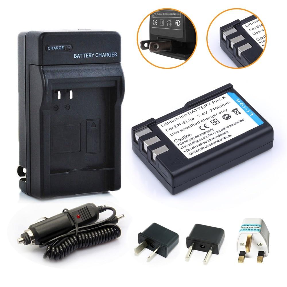 Prix pour Hibty 2400 mAh EN-EL9 EN EL9 ENEL9 batterie Rechargeable pour + chargeur de voiture + adaptateur Nikon EN - el9a D40 D40X D60 D3000 D5000